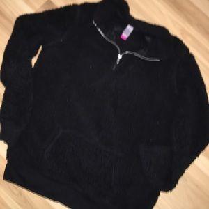 Black Fleece Half-Zip